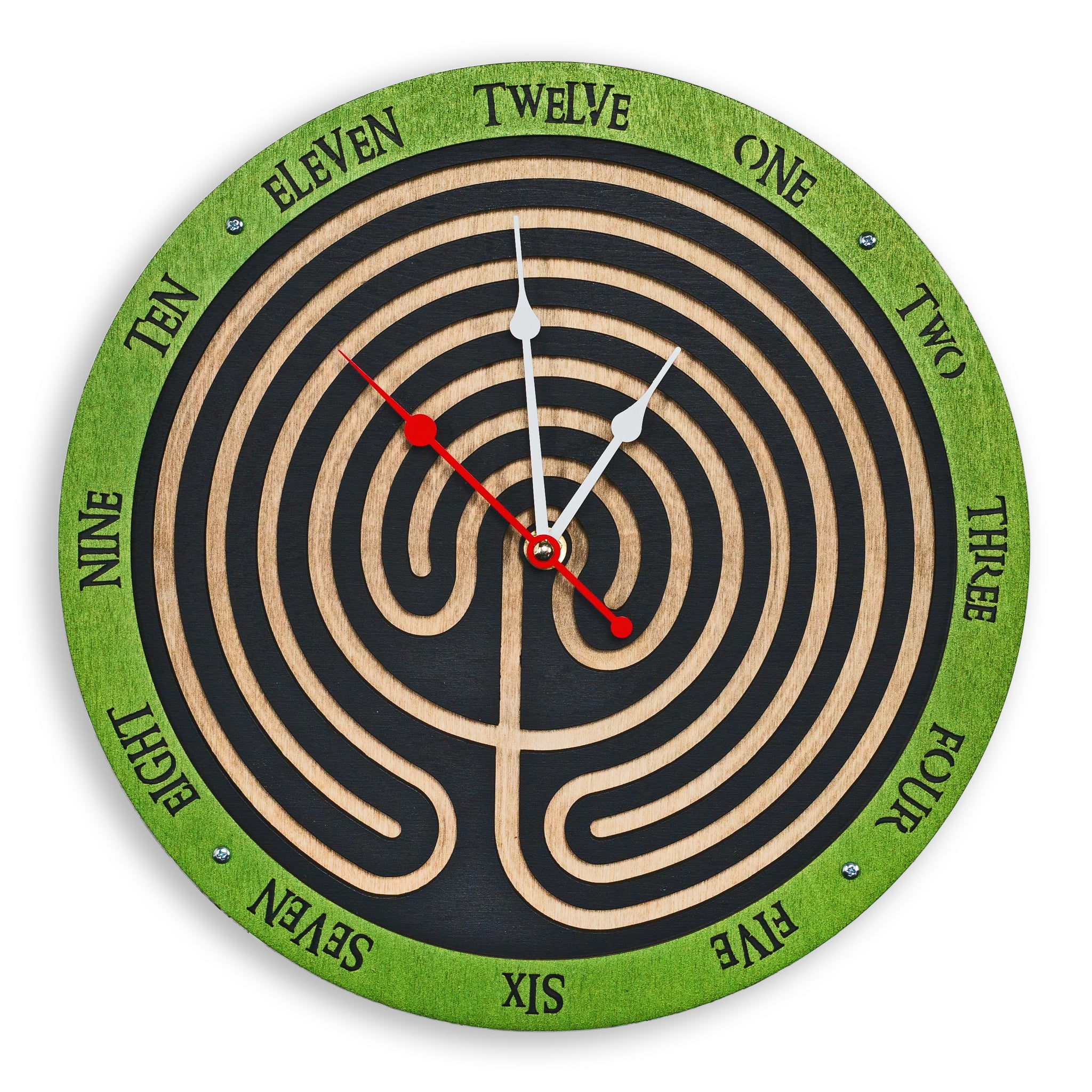 Labyrinth Wall Clock - WOODANDROOT