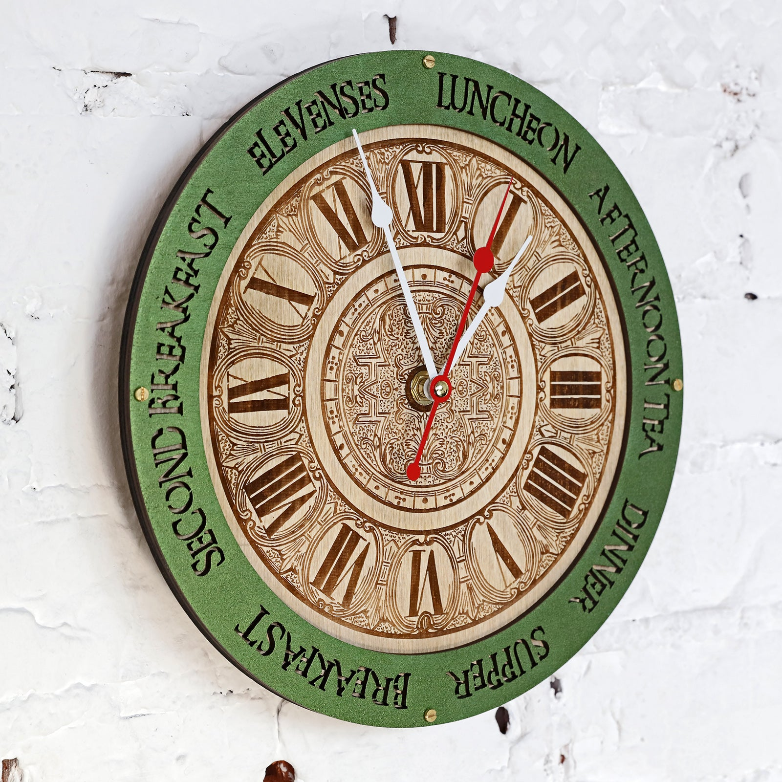 Meal Times Wall Clock - WOODANDROOT