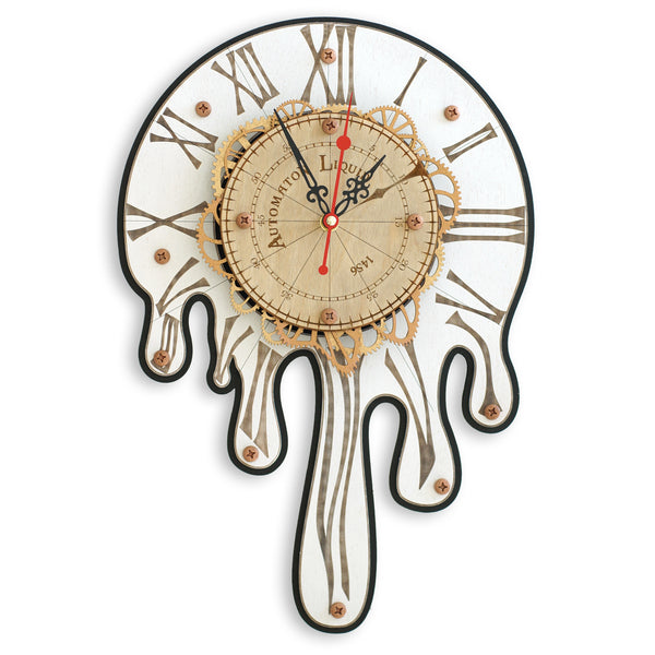 Automaton 1456 Melting Wall Clock - WOODANDROOT