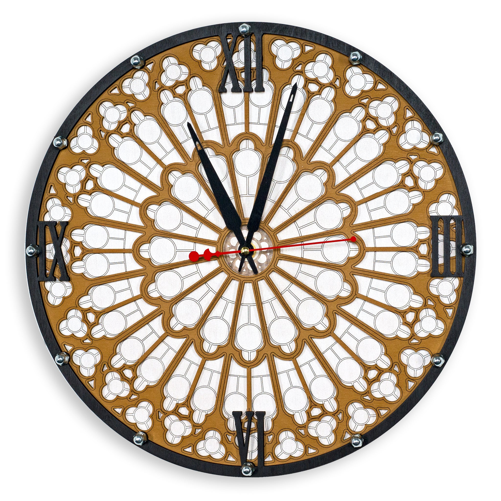 Notre-Dame Rose Window Wall Clock - WOODANDROOT