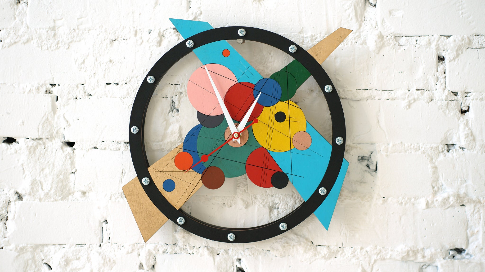 Composition Numero Uno Wall Clock - WOODANDROOT