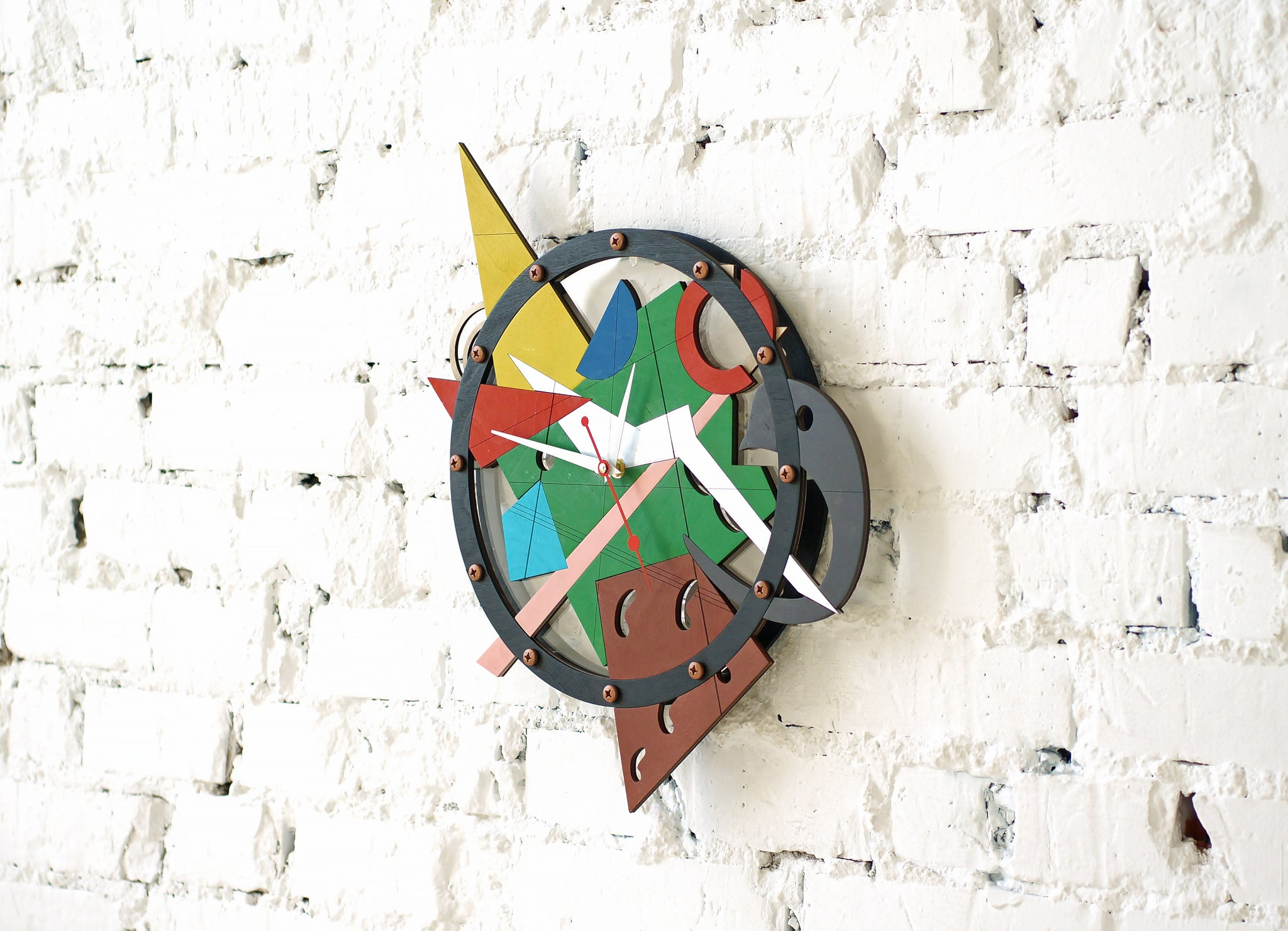 Composition Numero Duo Wall Clock - WOODANDROOT