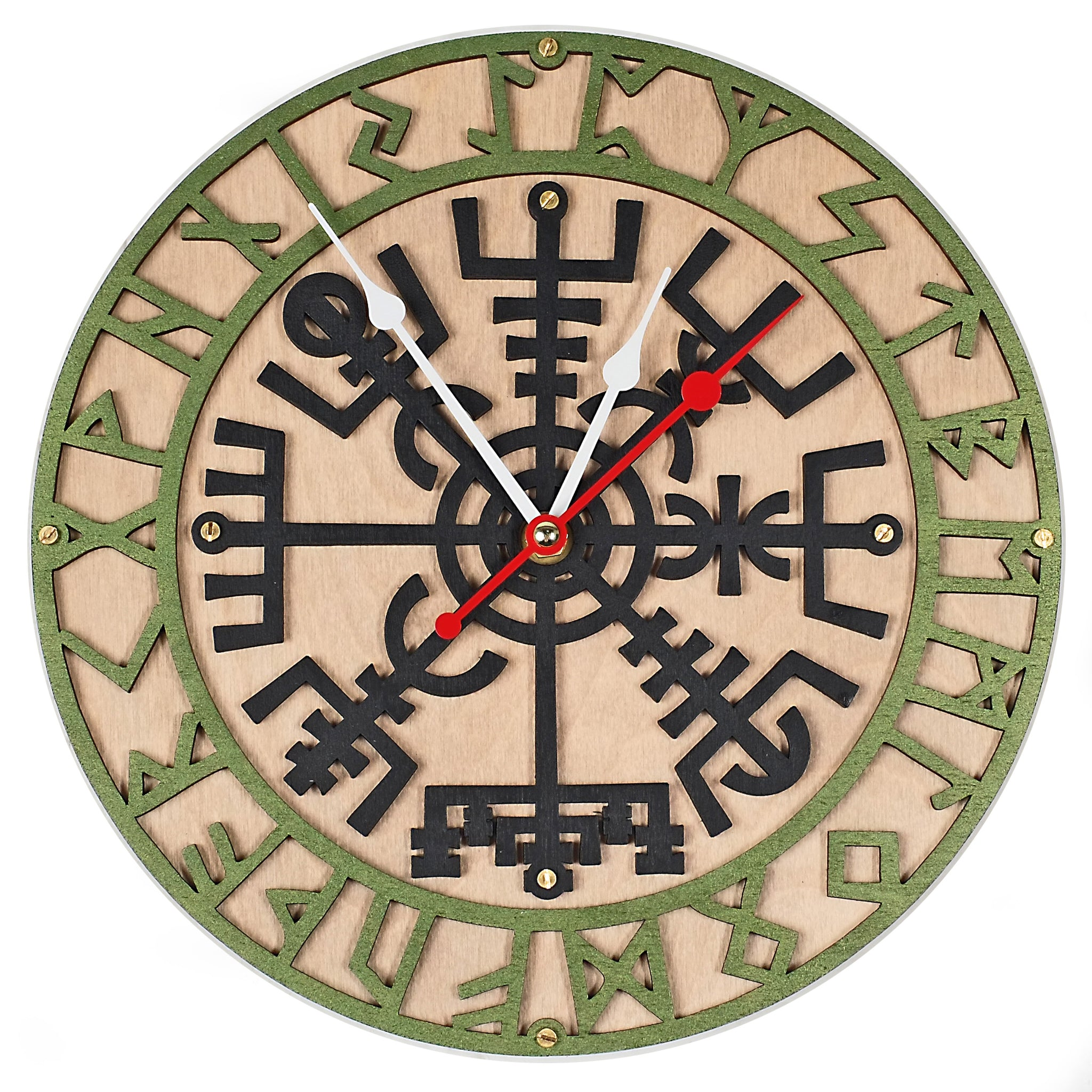 Vegvisir Viking Wall Clock - WOODANDROOT