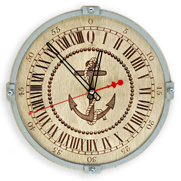 Anchor 24 Hour Wall Clock - WOODANDROOT