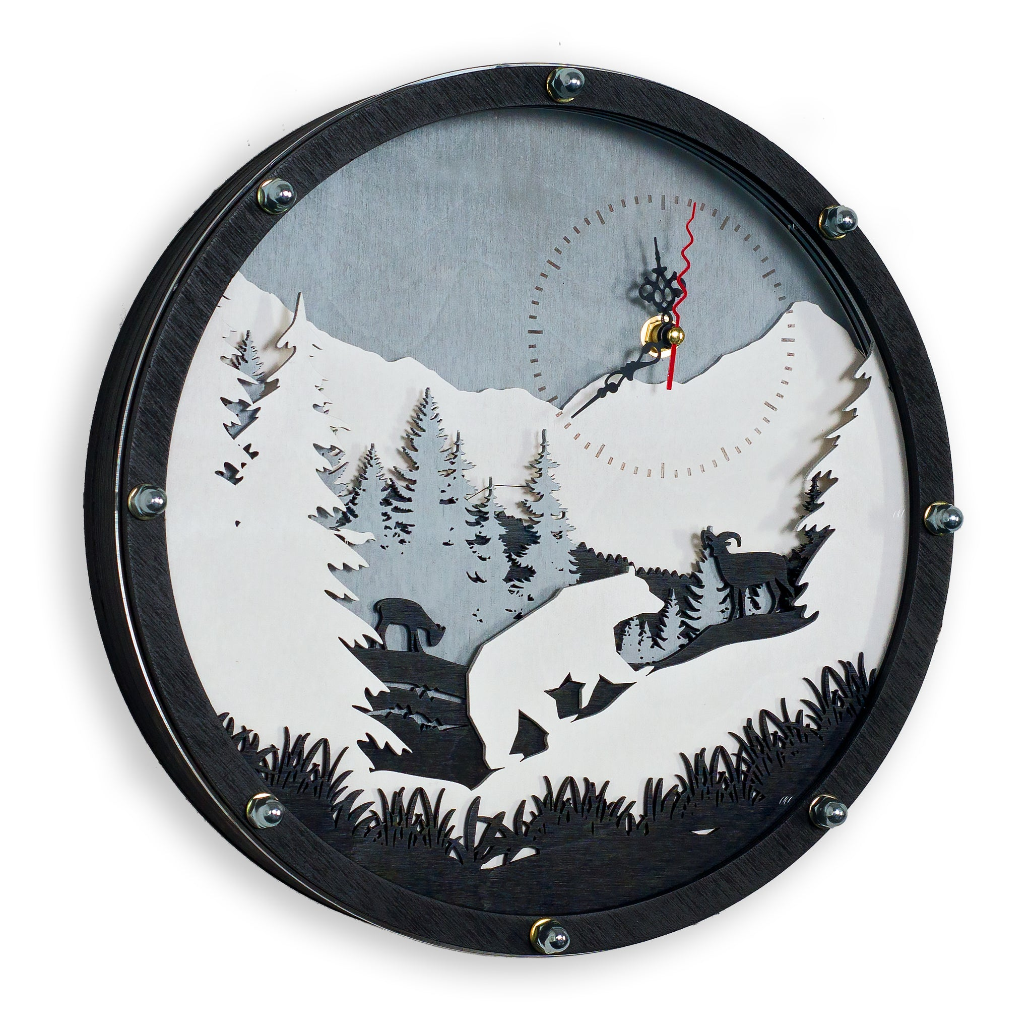 Animalia Wall Clock - WOODANDROOT