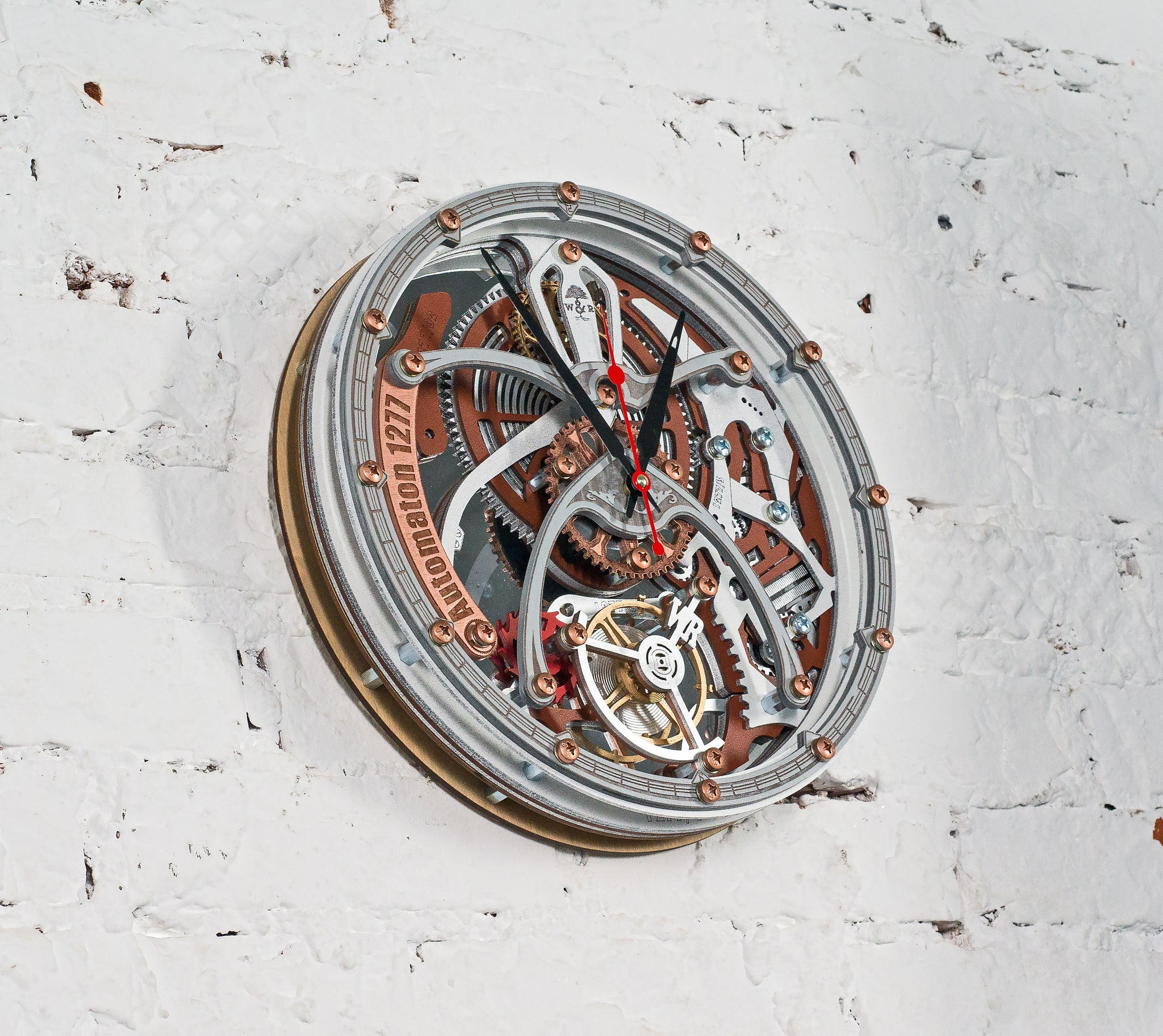 Automaton 1277 Tourbillon White Wall Clock - WOODANDROOT