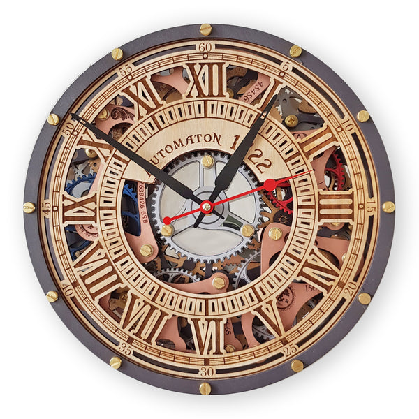 Automaton Skeleton 1722 Wall Clock - WOODANDROOT