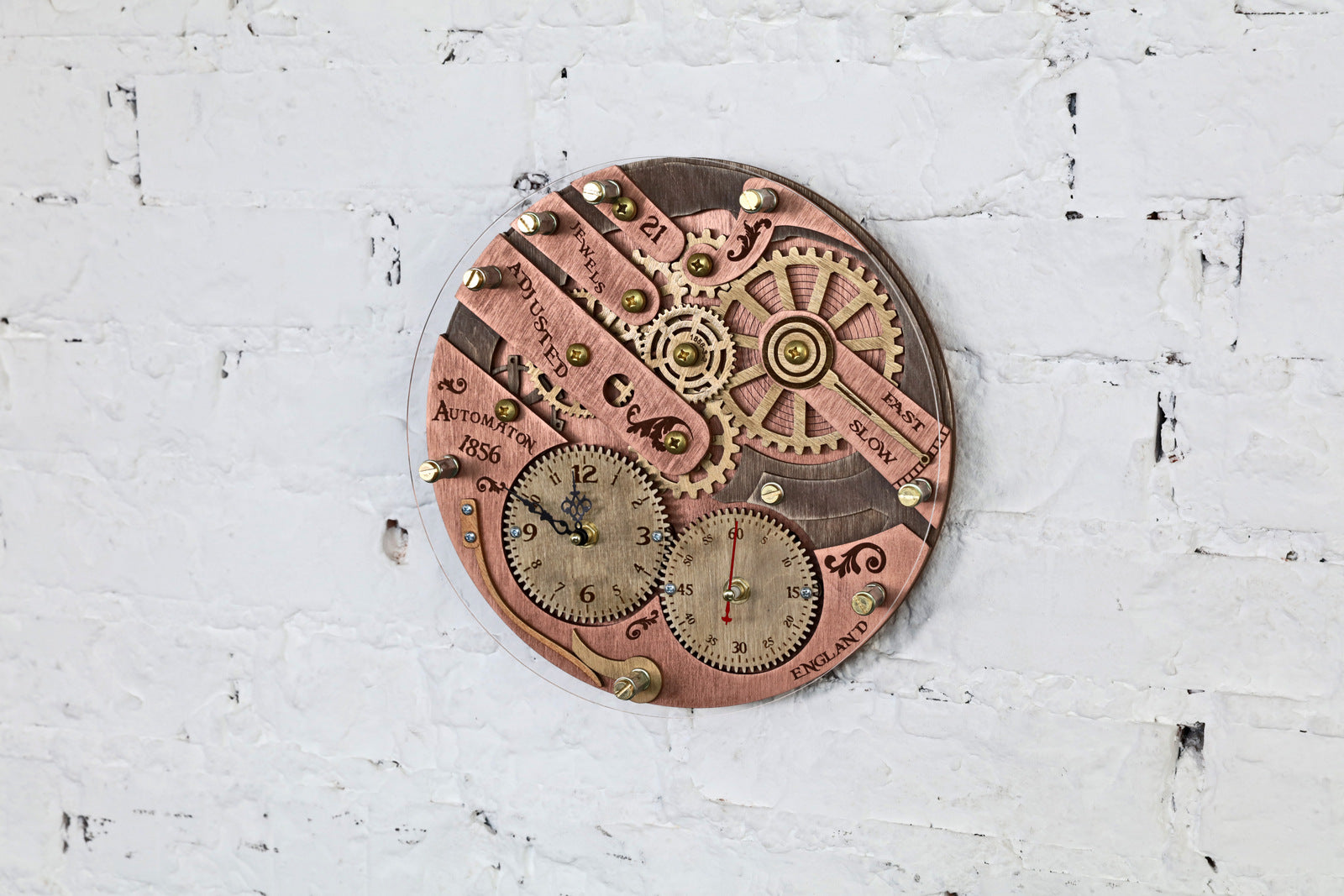 Chronomaton 1856 Wall Clock - WOODANDROOT