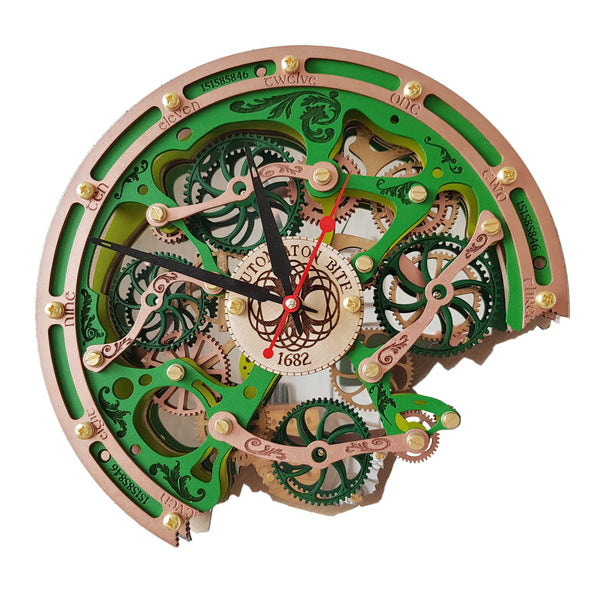 Automaton Bite 1682 Celtic Wall Clock - WOODANDROOT