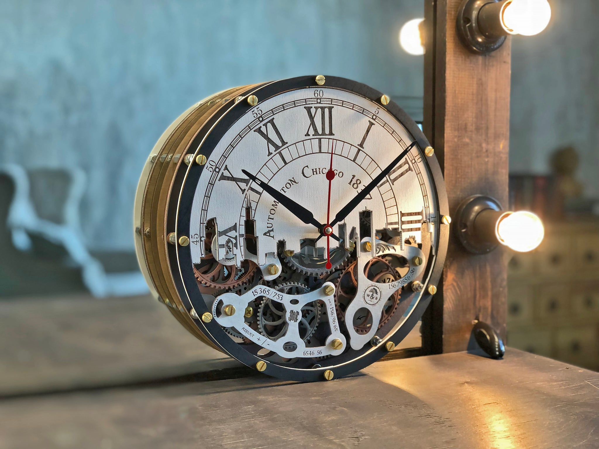Automaton Chicago 1837 Wall Clock - WOODANDROOT