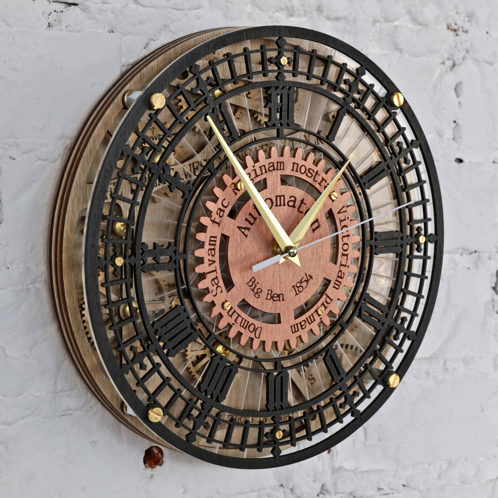 Automaton Big Ben Wall Clock - WOODANDROOT