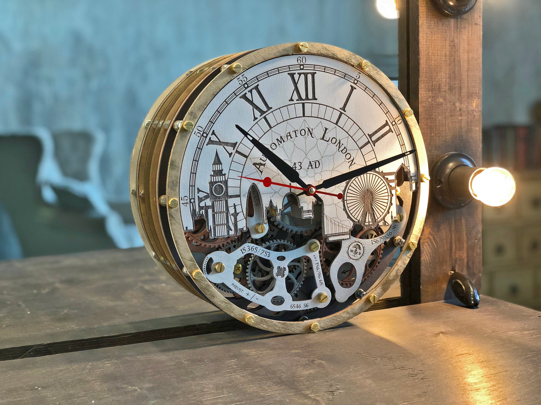 Automaton London 43AD Wall Clock - WOODANDROOT