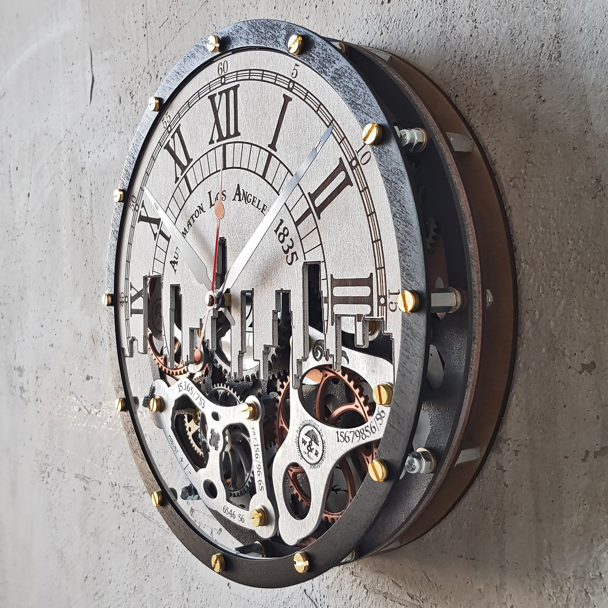Automaton Los Angeles 1835 Wall Clock - WOODANDROOT
