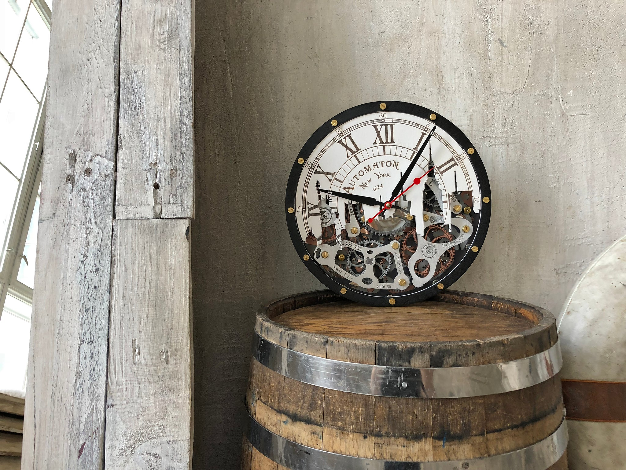 Automaton New York Wall Clock - WOODANDROOT