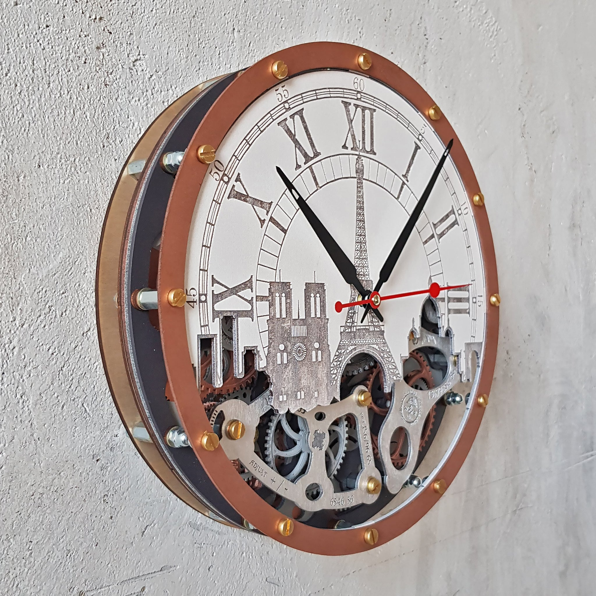 Automaton Paris Wall Clock - WOODANDROOT