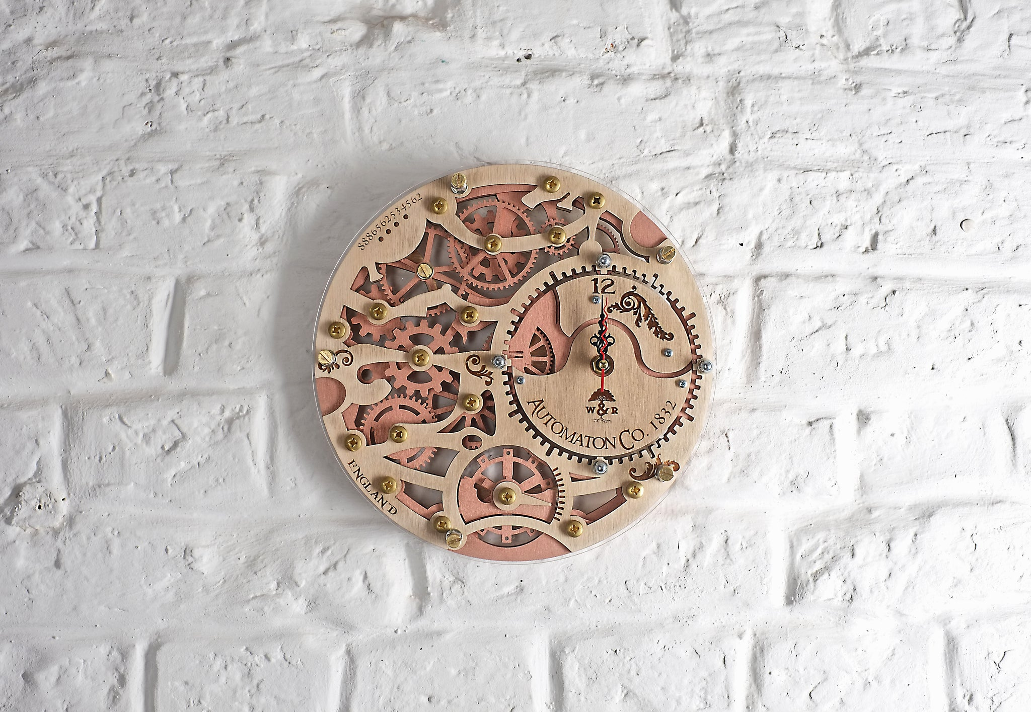 Skeleton 1832 Wall Clock - WOODANDROOT