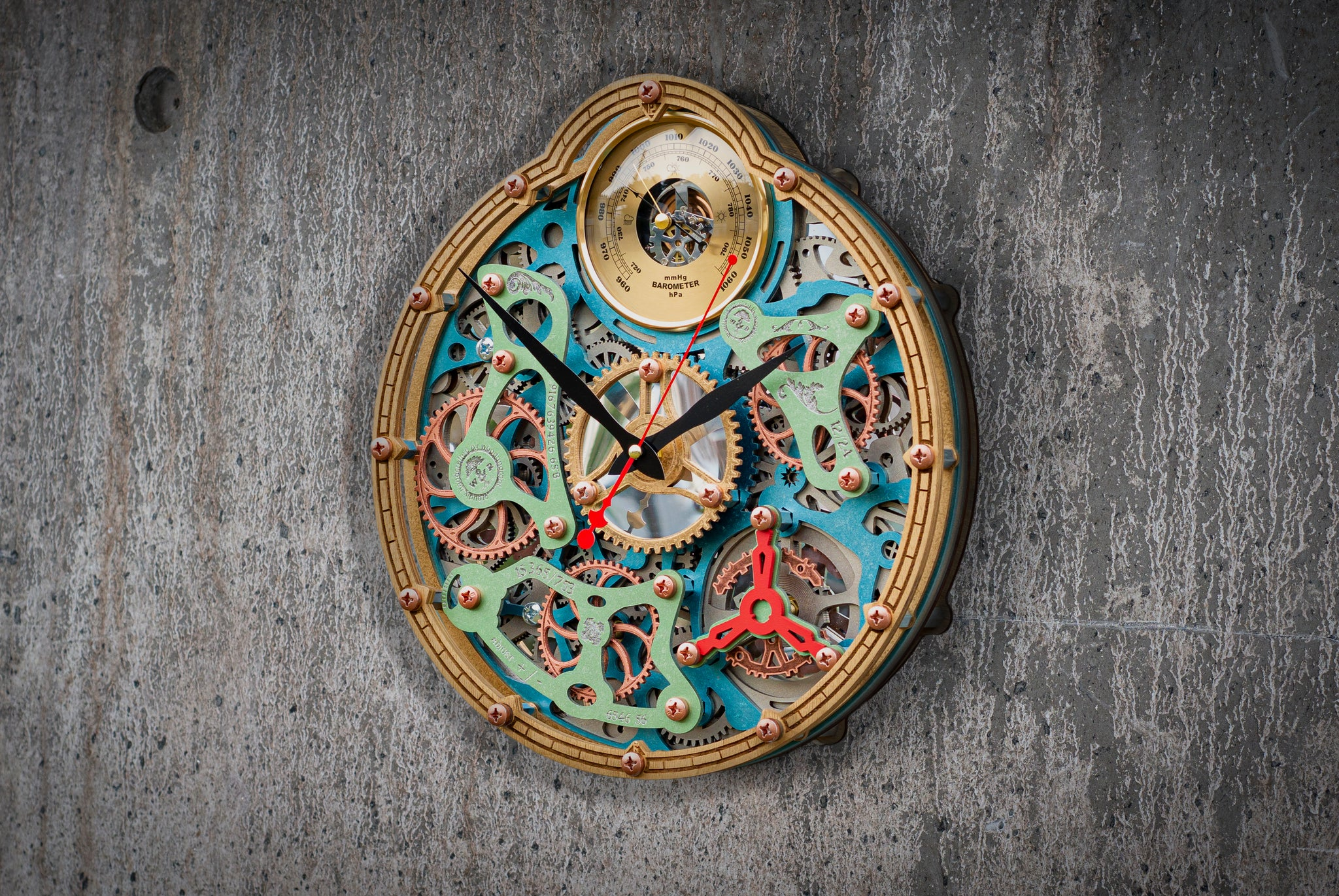 Automaton Tourbillon Meteorology Wall Clock - WOODANDROOT