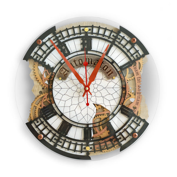 Automaton Big Ben Bite Wall Clock - WOODANDROOT