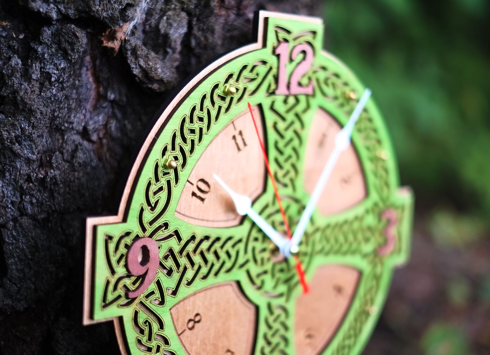 Celtic Cross Wall Clock - WOODANDROOT