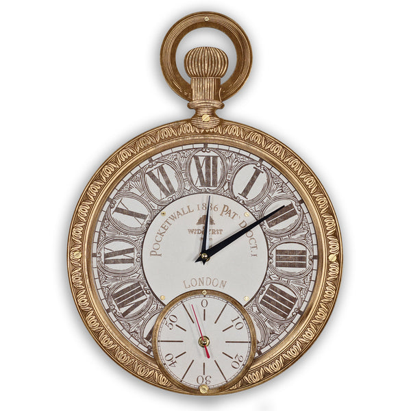 Pocket Watch Wall Clock - WOODANDROOT