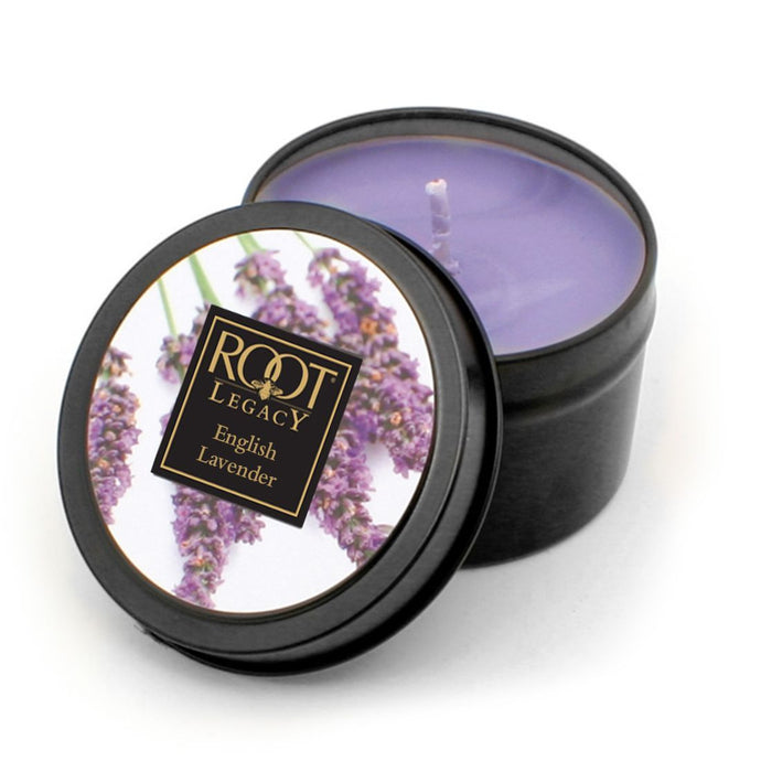 Candle Filled Tin English Lavender
