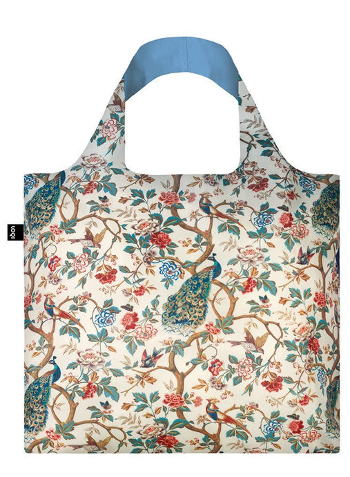 Foldaway Shopper Peacock And Peonies