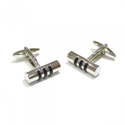 Black Striped Cufflinks