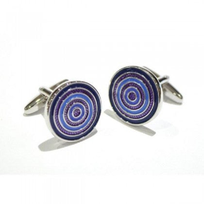 Concentric Blue Circles Cufflinks