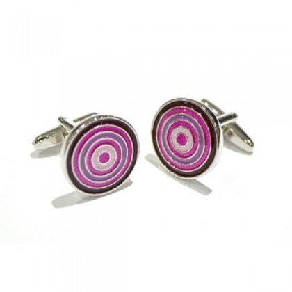 Pink & Purple Circles Cufflinks
