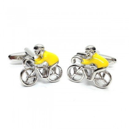 Yellow Jersey Cufflinks