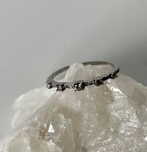 Raised Diamond Stacker Ring by Paula Rosen