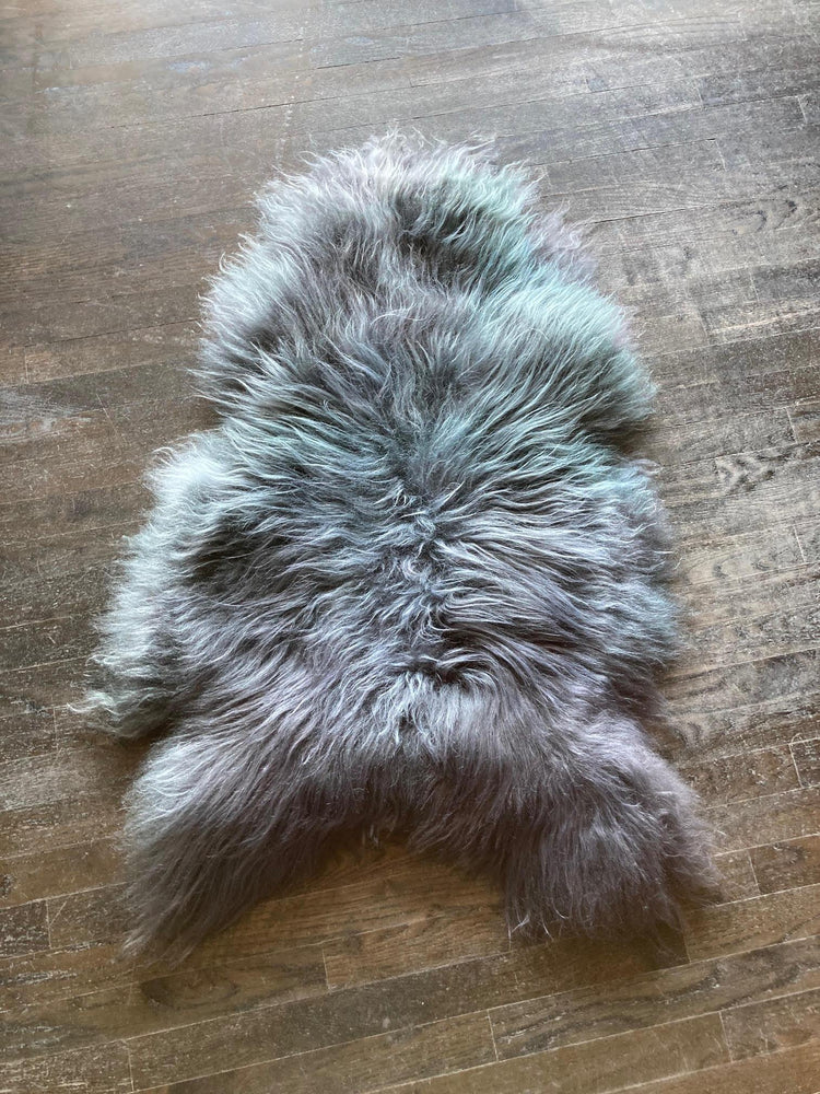 Single Shorn Sheepskin Throw - Long Hair Grey
