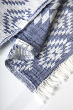 The Handloom Tribal Turkish Towel in Navy