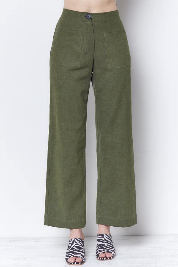 Padma Patch Pocket Pant in Olive by CLC by Corey Lynn Calter