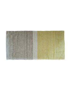 Citron and Grey Ombre Rug