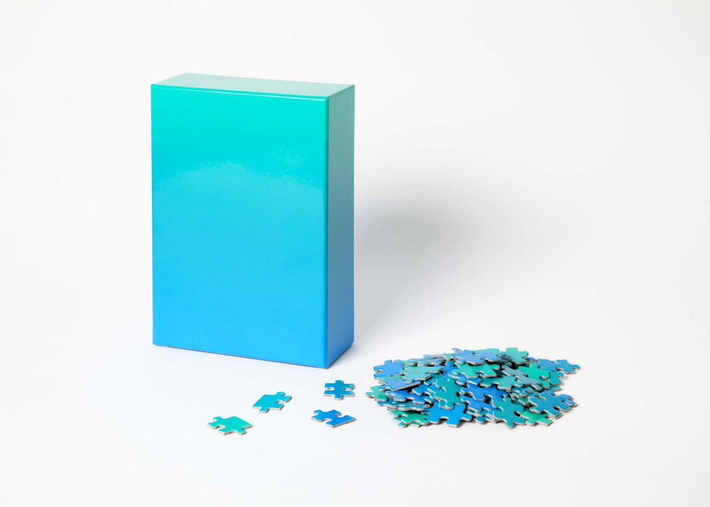 Gradient Puzzle in Blue/Green