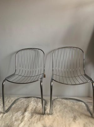 Pair of Chrome MCM Chairs