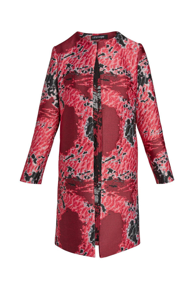 Catherine Gee Margot Jacquard Long Car Coat