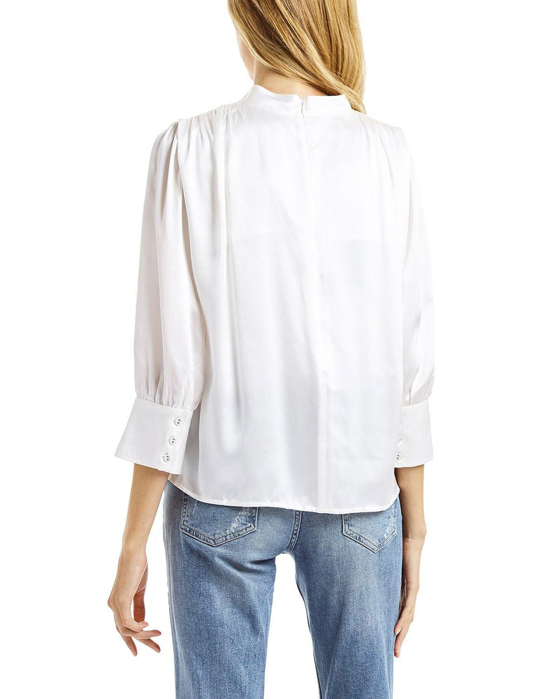 Valentina Keyhole Top in White by Secret Mission