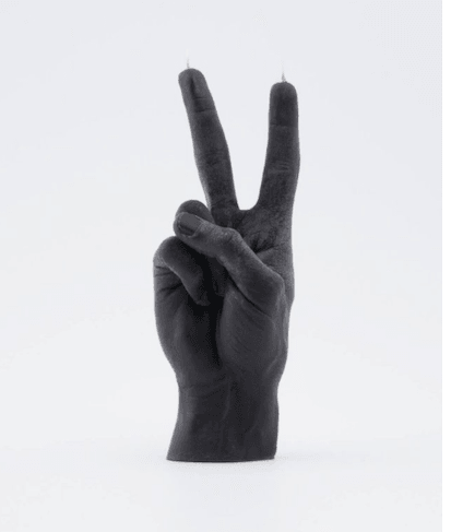 Gesture Candle Victory in Black by 54 Celsius