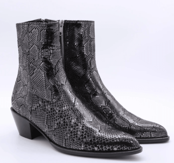 Snake Skin Ankle Boot Liz by MOMO