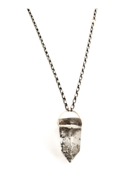 Phantom Quartz on Silver Chain by CLP Jewelry