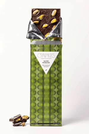 Salted Pistachio Dark Chocolate Bar by Compartes Chocolate