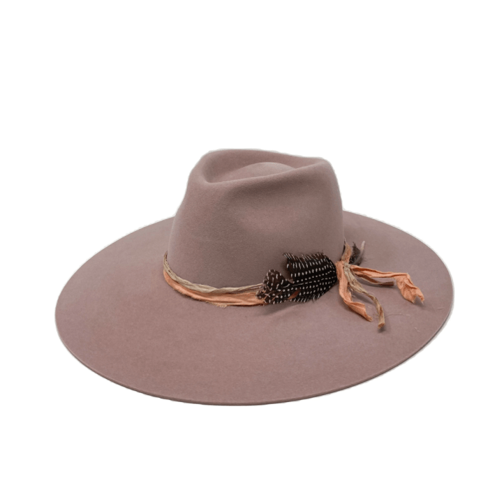 Montana Quartz Fedora with Silk by Lovely Bird