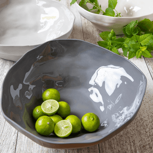 Stoneware Serving Bowl in Slate by Be Home