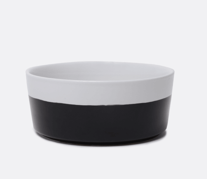 Ceramic Dog Bowl in Black by Waggo