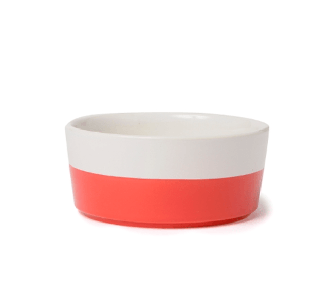 Ceramic Dog Bowl in Cherry by Waggo