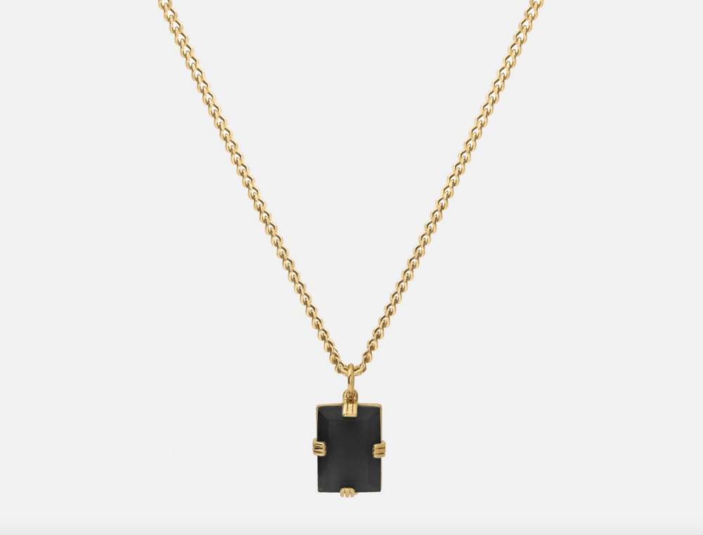 Lennox Onyx Necklace in Gold Vermeil by Miansai
