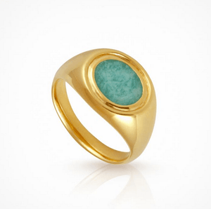 Kosmos Ring in Gold/Amozonite by Temple of the Sun
