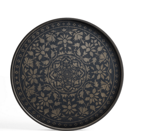 Black Marrakesh wooden tray